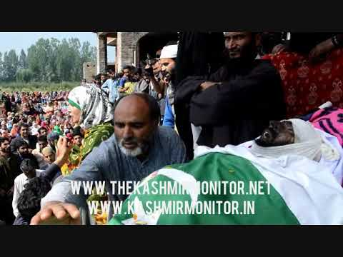 Thousands attend funeral of slain militant Sheraz in Pulwama