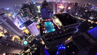 One of my favorite BASE jumps so far!!! 1200ft tower to pool landing on top of a 34 story building. for licensing/usage please ...
