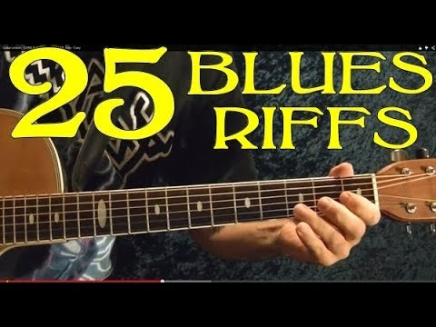 25 Blues Riffs 🔷Guitar Lesson – Beginners