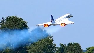 Video CONCORDE AIR FRANCE HUGE RC SCALE TURBINE MODEL JET DEMO FLIGHT / RC Airshow Airliner Meeting 2015 MP3, 3GP, MP4, WEBM, AVI, FLV Juni 2018