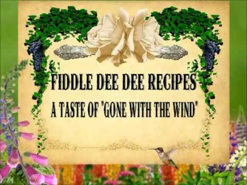 FIDDLE DEE DEE RECIPES A GONE WITH THE WIND COLLECTIBLE BOOK TRAILER (видео)