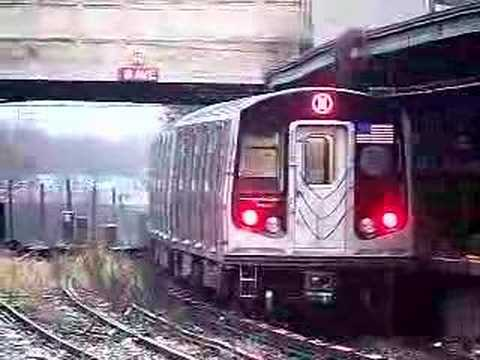 MustangFan424 - This is a video I took of a Siemens R160B N Train leaving 8th ave.