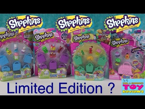 Shopkins Limited Edition FOUND Season 1 2 3 4 Unboxing Opening | PSToyReviews (видео)
