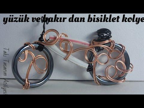 Yüzük & Bakır Tel ile Bisiklet Kolye Yapımı - Takı Tasarım Atölyesi