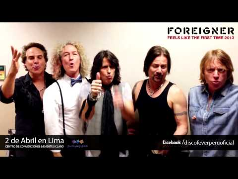 Foreigner envi saludos a fans peruanos 