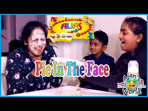 Ajan plays Alias with his sister and mommy and the loser gets pie on the face!! Fun kids board game!