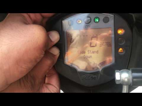 How to set time or clock on ktm rc 390/200/125 or ktm duke 390/200/125