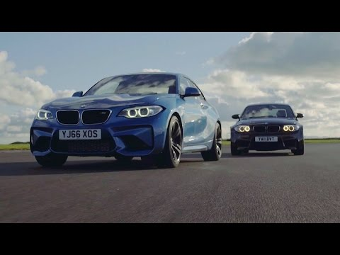 BMW M2 vs BMW 1M Coupe - Chris Harris Drives - Top Gear (видео)