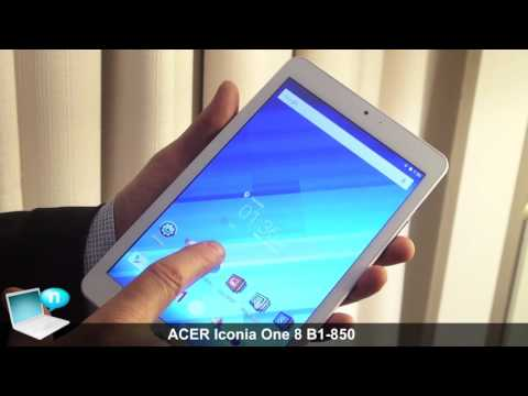 Видео Планшет Acer Iconia B1-850 8.0\'\' 16Gb White