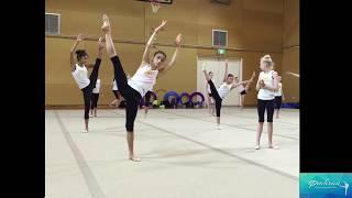 Rhythmic Gymnastics Training @ Team Future Camp Dec 2015 Australian Institute of Sport