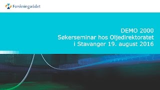 Søkerseminar for DEMO 2000