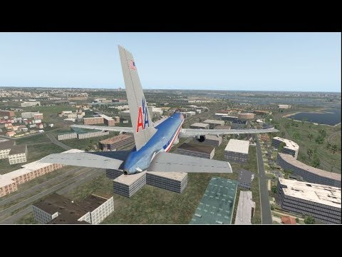 My recreation of the Pentagon Attack: American Airlines Flight 77