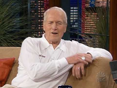 Paul Newman with Jay Leno 08-04-2005 part 1/2