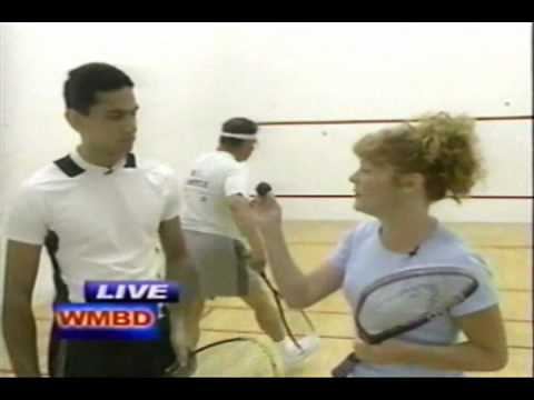 My live TV interview on How to play squash