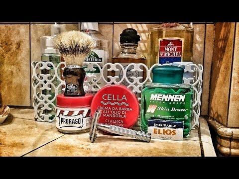 Rasatura con Cella - Rasoio Nanjie & Elios - Omega 11775 - Mennen Skin Bracer