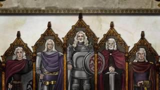 0:00 - House Targaryen 3:03 - House Stark 5:14 - House Lannister 8:58 - House Baratheon 11:31 - House Tyrell 15:38 - House Arryn 17:37 - House Martell ...