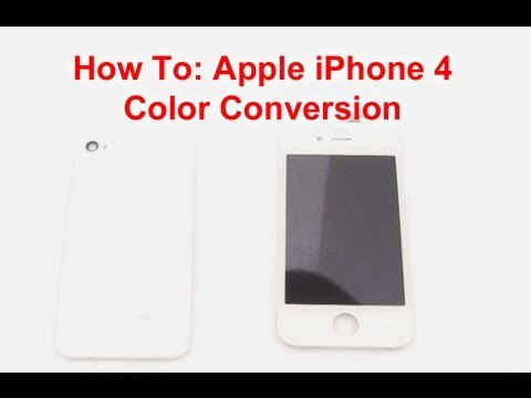 iPhone 4 Color Swap Video Directions
