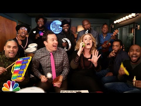 Fallon Adele And The Roots Sing Hello On Kids