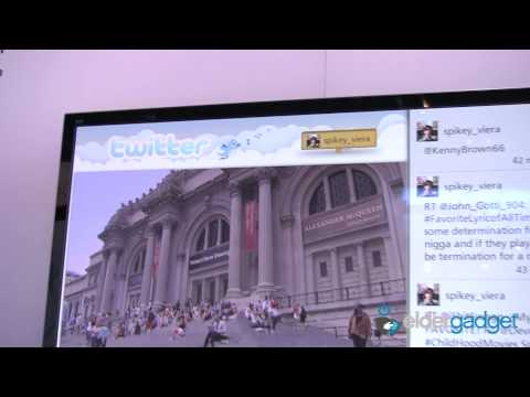 CES 2012 Video: Panasonic Social Networking TV