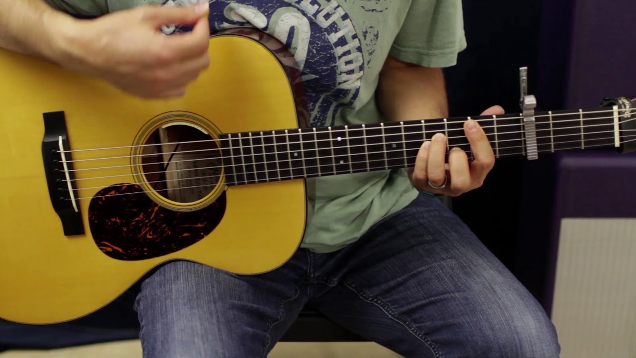 Acoustic Guitar song lesson how to play night train Jason aldean