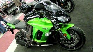 8. 2013 Kawasaki Ninja 1000 ABS Lime Green - Walkaround - 2013 Montreal Motorcycle Show