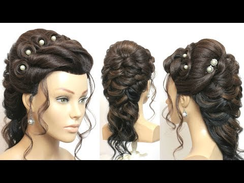 New hairstyle - New Beautiful Hairstyle for Wedding or Function Step By Step