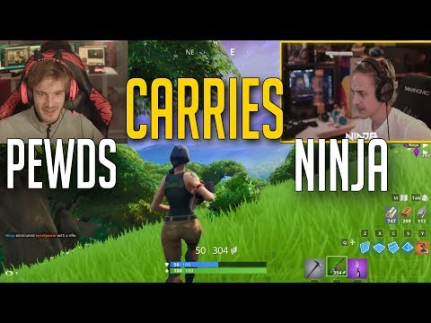[Official] Pewdiepie Carries Ninja | Friday Fortnite