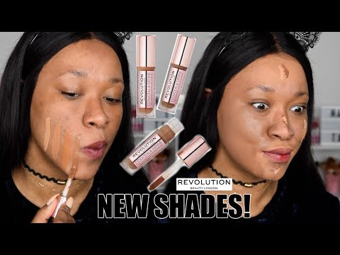 Revolution New Concealer Shades! Swatches & Demo