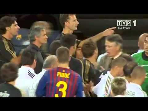Mourinho attack Tito Vilanova (видео)