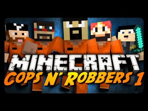 Minecraft Mini-Game: COPS N' ROBBERS! w/ AntVenom & Friends!