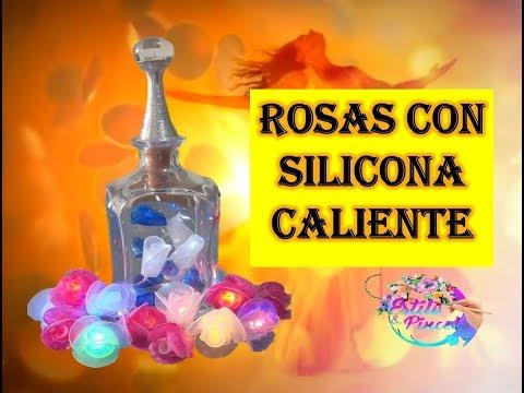 Decoracion de uñas - ROSAS CON SILICONA CALIENTE