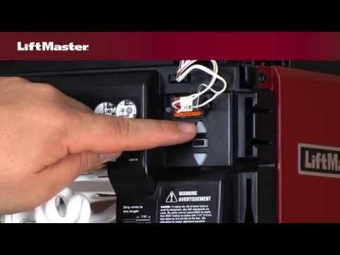 How to program the travel on a LiftMaster¨ Security+2.0ª garage door opener