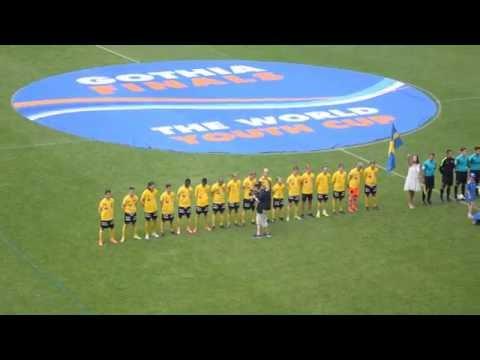 B15 Gothia Cup 2016 Finale - IF Elfsborg (Suède) Vs ASIOP Apacinti (Indonésie) : Hymne de la Suède