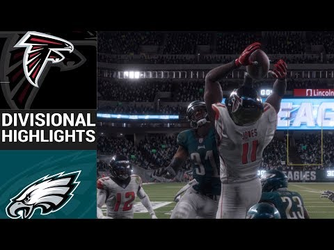 Falcons vs. Eagles | NFL Divisional Round Game Highlights Madden 18