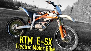 1. KTM SX-E Freeride electric motorbike Test ride
