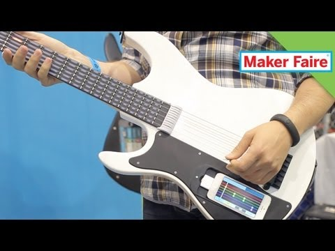 gtar - At Maker Faire Anthony channels his inner musician with the gTar, a digital guitar that anybody can play! Check it out! See More of the GTar Here: gTar: The ...