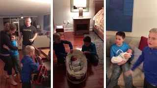 Subscribe here: http://bit.ly/1m6su5O This is the adorable moment two sons jump up and down with joy after their parents surprise ...