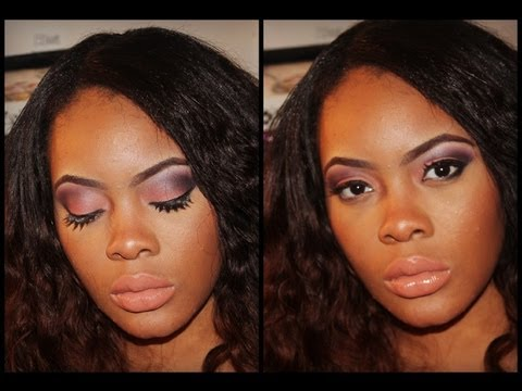 Peach and Purple Smokey Eye Make-up Tutorial With Twin