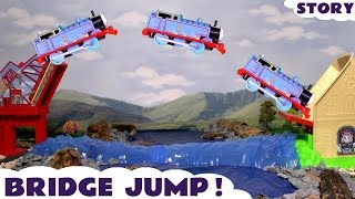 Thomas and Friends Trackmaster Sky High Bridge Jump Rescue Family Fun Toys unboxing & review.