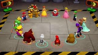 Super Mario Party - All Team Minigames (Team Mario vs. Team Wario)