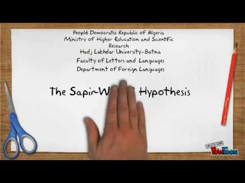 Language and Thought: the Sapir-Whorf Hypothesis - YouTube