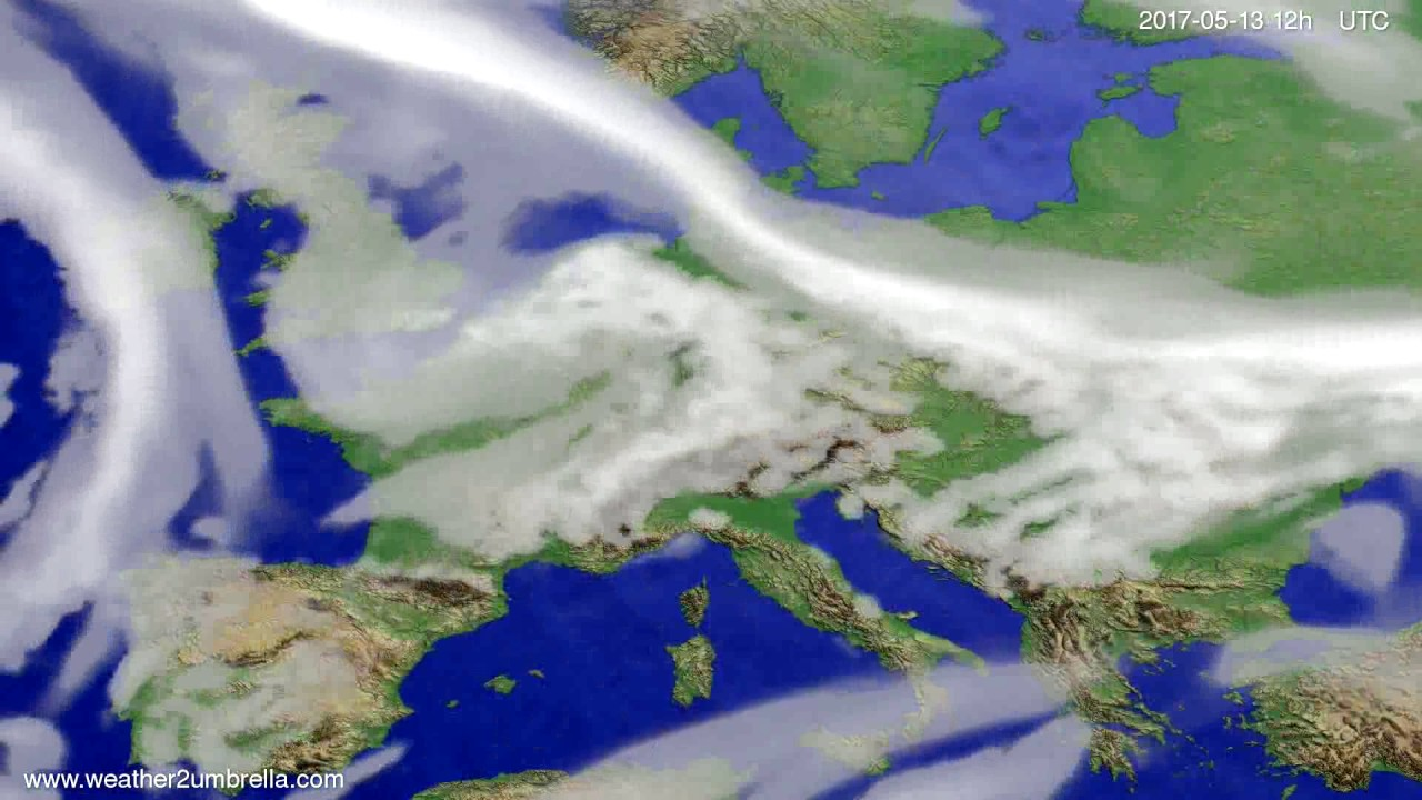Cloud forecast Europe 2017-05-09