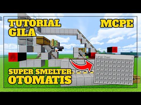 ( MPCE ) Cara Membuat FURNACE OTOMATIS di MCPE - Minecraft Tutorial Indonesia