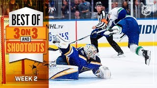 Best of 3-on-3 Overtime and Shootouts | Week 2 | NHL by NHL