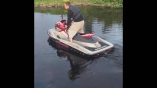 7. SeaDoo RXP 215 With GSX-R1000 Engine Idling test. Need some turboshit...