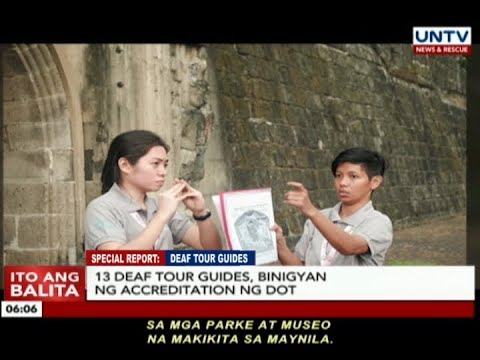 SPECIAL REPORT: Deaf Tour Guides