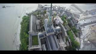 Survol du Mont-Saint-Michel en drone