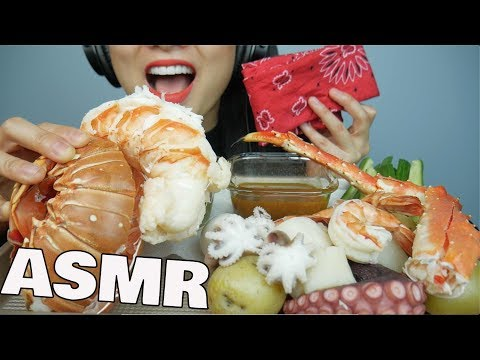 ASMR SEAFOOD Boil (Giant LOBSTER + KING CRAB + Octopus + Shrimp) EATING SOUNDS | SAS-ASMR