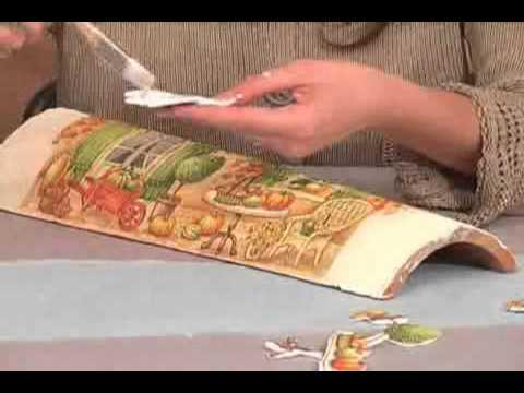 decoupage - tegola tridimensionale
