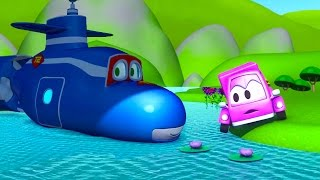 Nonton Carl The Super Truck Transforms Into A Submarine To Help The Little Pink Car In Car City   Cartoons Film Subtitle Indonesia Streaming Movie Download
